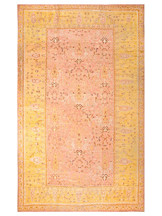 "Antique Turkish Oushak Carpets - #18715 antique Turkish Oushak carpet 10'8"" x 17'6"""