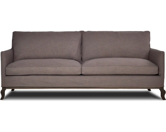 Chateau Sofa - A beautiful blend of old world styling with a modern edge, the Chateau sofa is the perfect balance for any transitional design. Made from natural fibers, recycled cushion fills, and recycled steel springs, this sofa will instantly update any room. Made to order in the USA, this sofa can be delivered to your home in 6 - 8 weeks.