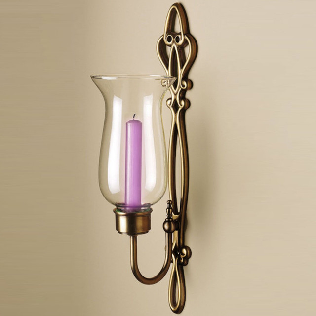 Hurricane Wall Light : Bronze Hurricane Sconce - Contemporary - Wall Sconces - by Overstock.com