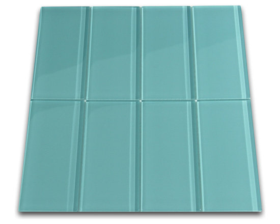 CNK Tile - Aqua Glass Subway Tile, Sqft - The Aqua Subway Tile is made from the strongest stain-resistant crystal clear glass. These tiles have a 8mm thickness that increases their durability and the depth of their color making them truly beautiful subway tiles. These subway tiles can be used for commercial or residential construction in either a wet or dry environment.
