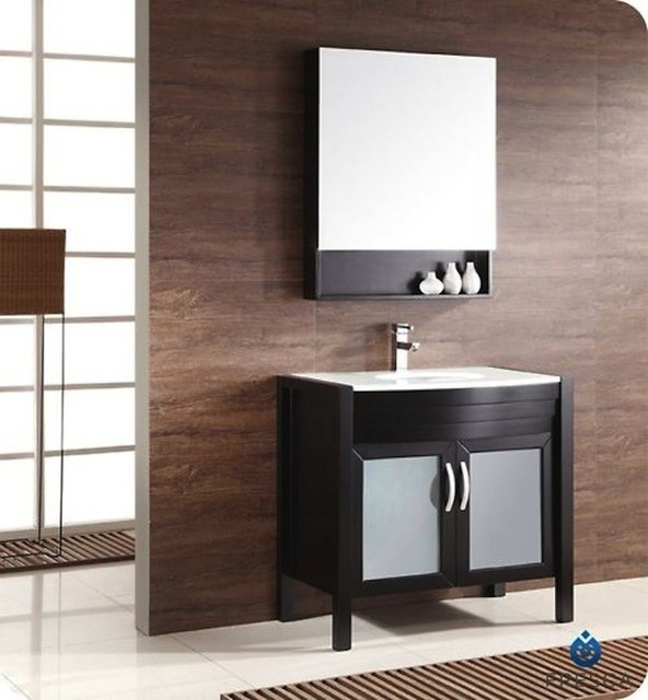 ... Bathroom Vanity w/ Medicine Cabinet FVN5136E modern-bathroom-mirrors