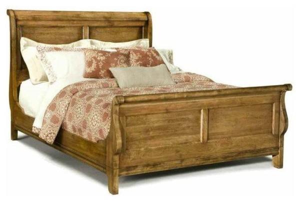 Durham Furniture Vineyard Creek Queen Sleigh Bed In Aged