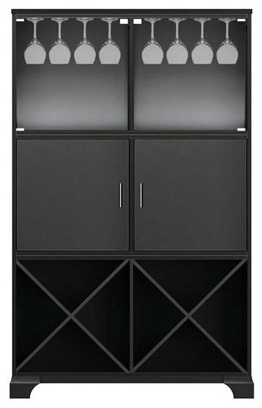 Ava Cabinet w 2 Panel Doors in Antique Black ...