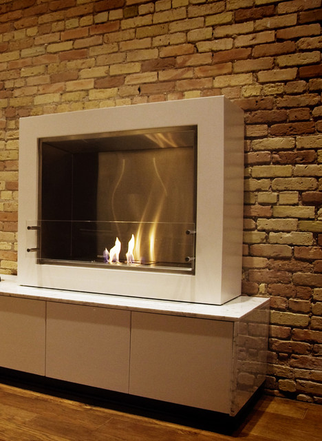 Eco-Friendly Fireplaces - Studio V40 contemporary