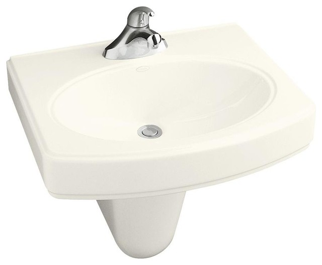 KOHLER Bathroom Pinoir Wall-Mount Bathroom Sink with Centers in ...