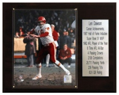 NFL 12 x 15 in. Len Dawson Kansas City Chiefs Career Stat Plaque modern-artwork