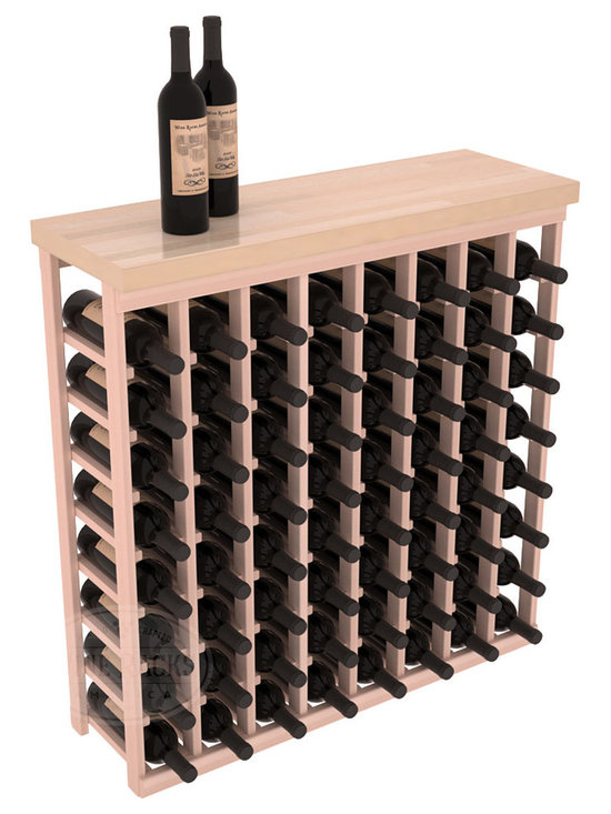 "Wine Racks America - Tasting Table Wine Rack Kit with Butcher Block Top in Redwood, White Wash Stain - The quintessential wine cellar bar; this wooden wine rack is a perfect way to create discrete wine storage in shallow areas. Includes a 35"" Butcher Block Top that helps you create an intimate tasting table. We build this rack to our industry leading standards and your satisfaction is guaranteed."