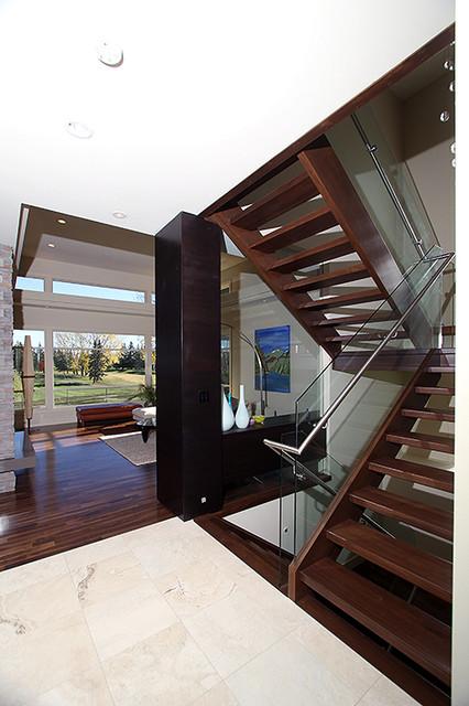 Modern organic contemporary staircase edmonton by for Interior design edmonton