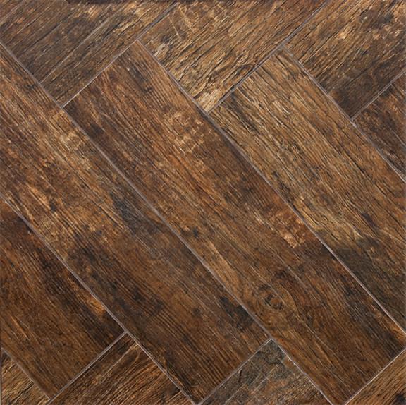 Redwood Mahogany Wood Plank Porcelain - Modern - Wall And ...