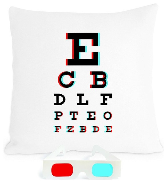 Heather Lins Home 3-D Eye Chart Pillow eclectic pillows