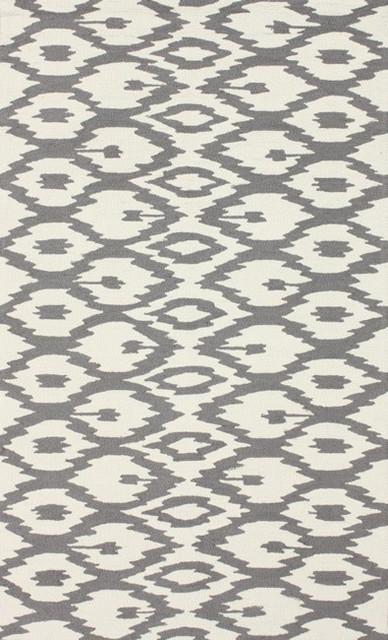 nuLOOM Handmade Modern Ikat Trellis Grey Rug (5' x 8') contemporary-rugs