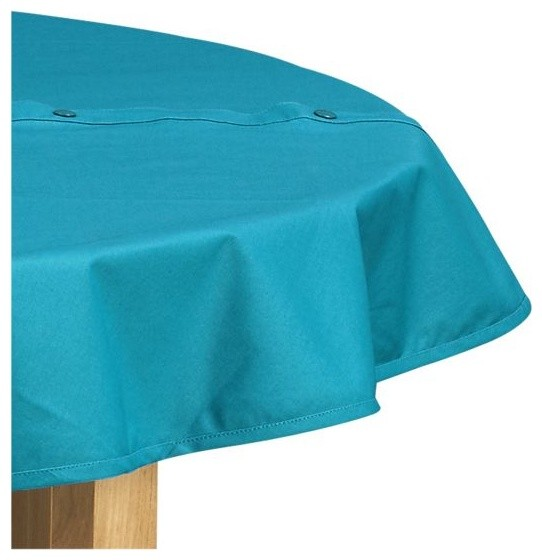 Round Teal Umbrella Tablecloth Modern Outdoor Products