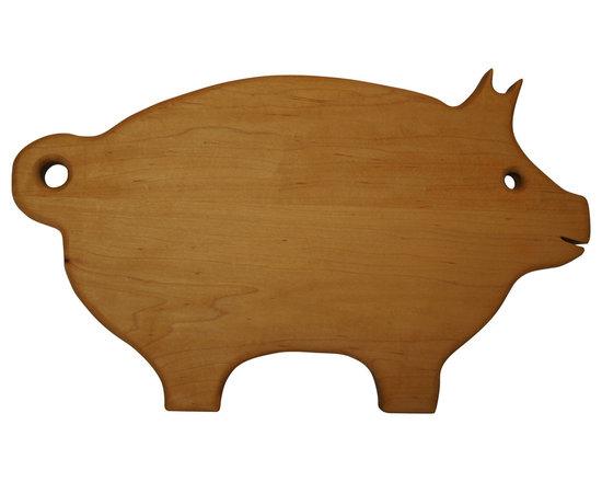 Shark Shade / Martin Carts - Pig Cutting Board - Made From Rock Hard Maple Planks