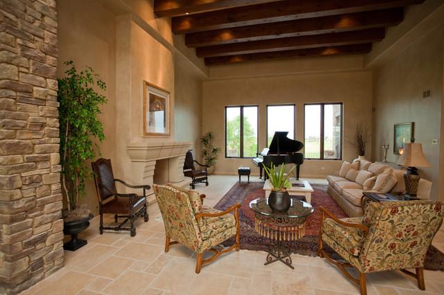 Tuscan Timbers mediterranean-living-room