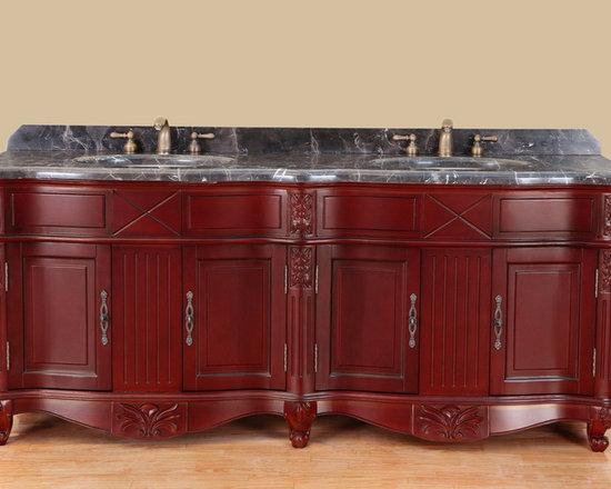 75'' Bosconi T-3688 Classic Double Bathroom Vanity - 75'' Bosconi T-3688 Classic Double Bathroom Vanity