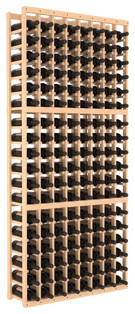8 Column Standard Wine Cellar Kit in Pine, Satin Finish contemporary-wine-racks
