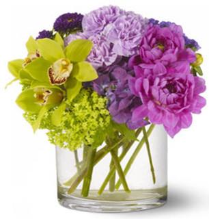 Watercolor Beauty Fresh Flower Arrangement contemporary-plants