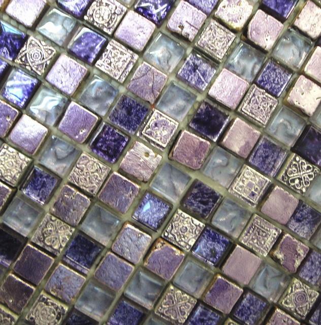 purple haze glass mosaic tile mosaic tile toronto by cercan tile