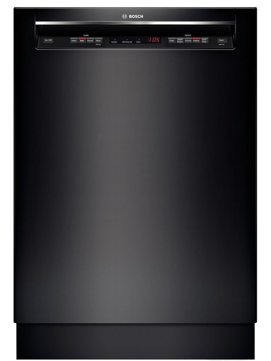 """Bosch 24"""" Recessed Handle 300 Series Dishwasher, Black 