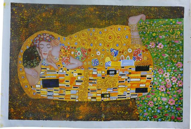 Oil Paint Canvas Art Portrait Love Wall Decor contemporary-paintings