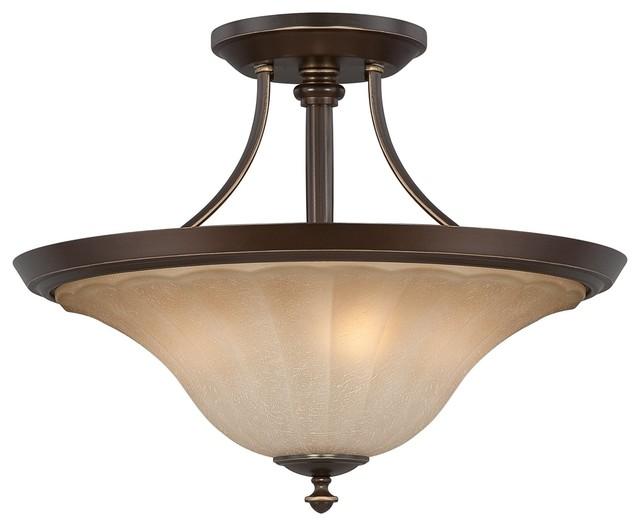 Quoizel ALZ1718PN Aliza Transitional Semi Flush Mount Ceiling Light Contemp
