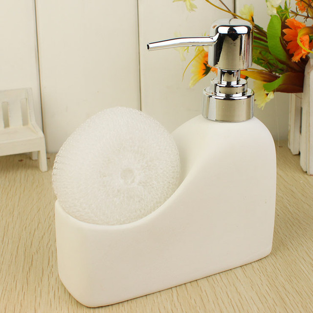 Ceramic Bathroom Liquid Soap Dispencer modern bath and spa accessories