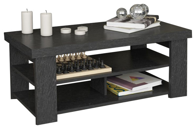 black coffee table transitional - photo #22