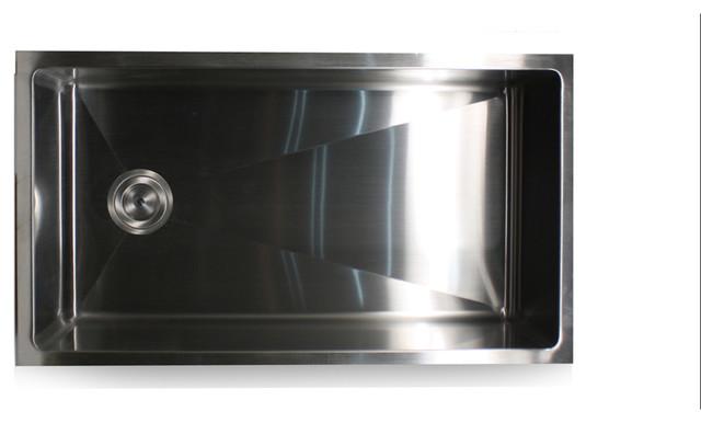 Nantucket Sinks ZR3218-SR Kitchen Sink contemporary-kitchen-sinks