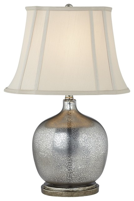 Transitional Kathy Ireland Manhattan Modern Smoke Glass Table Lamp contemporary-table-lamps