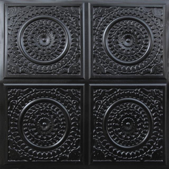 Ceiling tiles black
