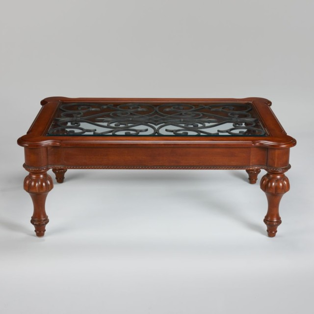 Tuscany devereaux coffee table traditional coffee tables by ethan allen Traditional coffee tables and end tables