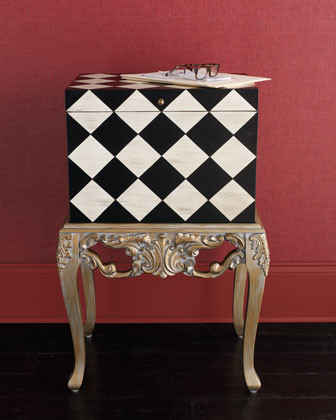 Checkered File Box traditional-filing-cabinets