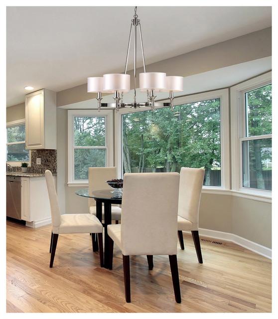 Nickel Dining Room Chandeliers: ELK Lighting 10123/6 Pembroke Polished Nickel 6 Light