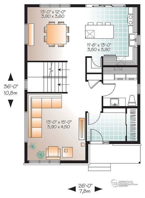 Affordable - Modern Home Design no. 3710 by Drummond House Plans contemporary