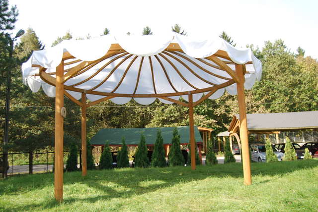 EcoCurves - Glue laminated  timber Pergola Valencia modern gazebos