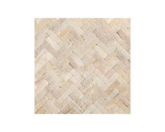 Honey Onyx Tumbled Herringbone Natural Stone Mosaic -