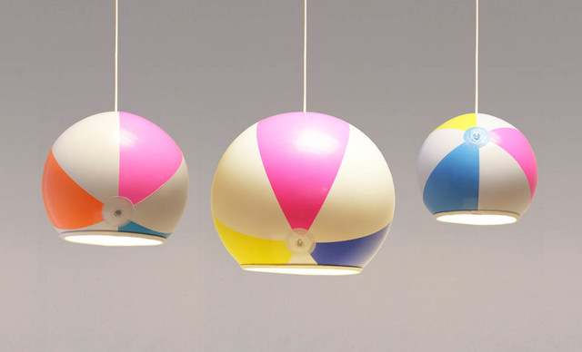 Beach Ball Shades Eclectic Lamp Shades Other Metro