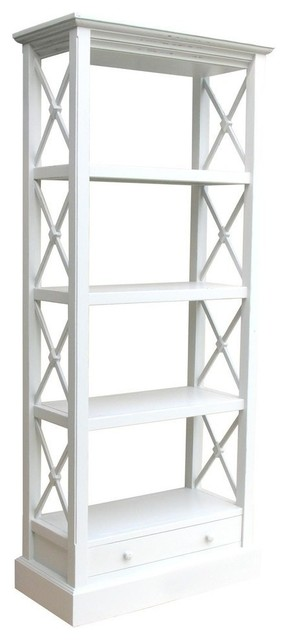 New Bookcase White/Cream Painted Hardwood traditional-bookcases