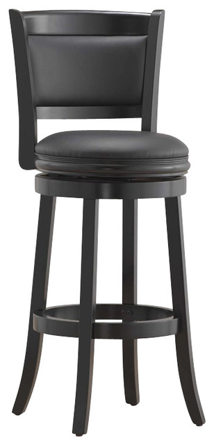 """Boraam Augusta 29"""" Bar Height Swivel Stool in Black transitional-bar-stools-and-counter-stools"""