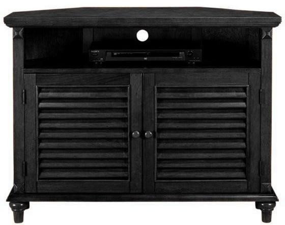 Savannah Louvered-Door Corner TV/DVD Cabinet - Traditional - Filing Cabinets