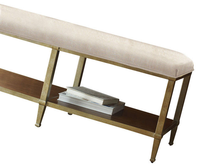 Sunset Canyon Metal Base Bed Bench Contemporary Upholstered Benches By Carolina Rustica