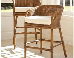 Wingate Rattan Barstool | Pottery Barn traditional-bar-stools-and-counter-stools