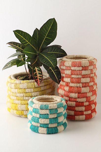 Color Coil Pot, Small modern indoor pots and planters