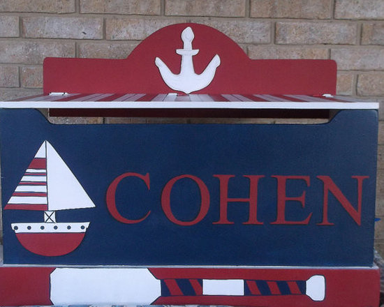 Nautical Sailboat Custom Toy Box by Our Little Man -