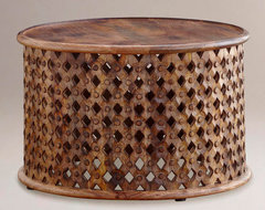 Tribal Carved Coffee Table modern-coffee-tables
