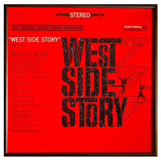 Glittered West Side Story Album - Eclectic - Game Room Wall Art And Signs - by mmm designs