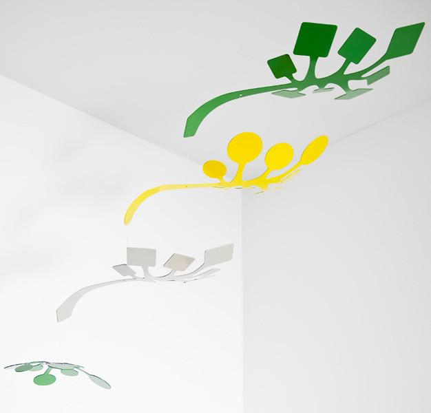 Schmitt Deisgn - Sprig Mobile in Green/Yellow contemporary-mobiles