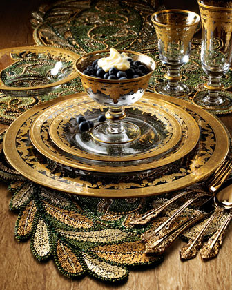 Arte Italica Four Vetro Gold Cups & Saucers traditional-everyday-glasses