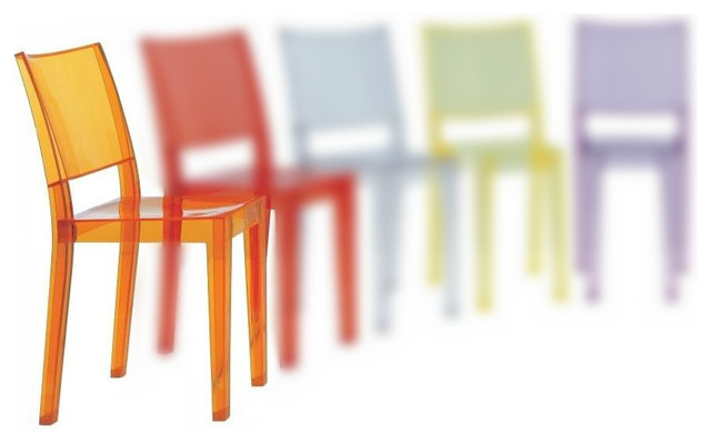 La Marie Chair, Set of 2, Transparent Light Orange modern-armchairs-and-accent-chairs