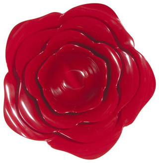Red Rose Bowl Set eclectic-serving-and-salad-bowls
